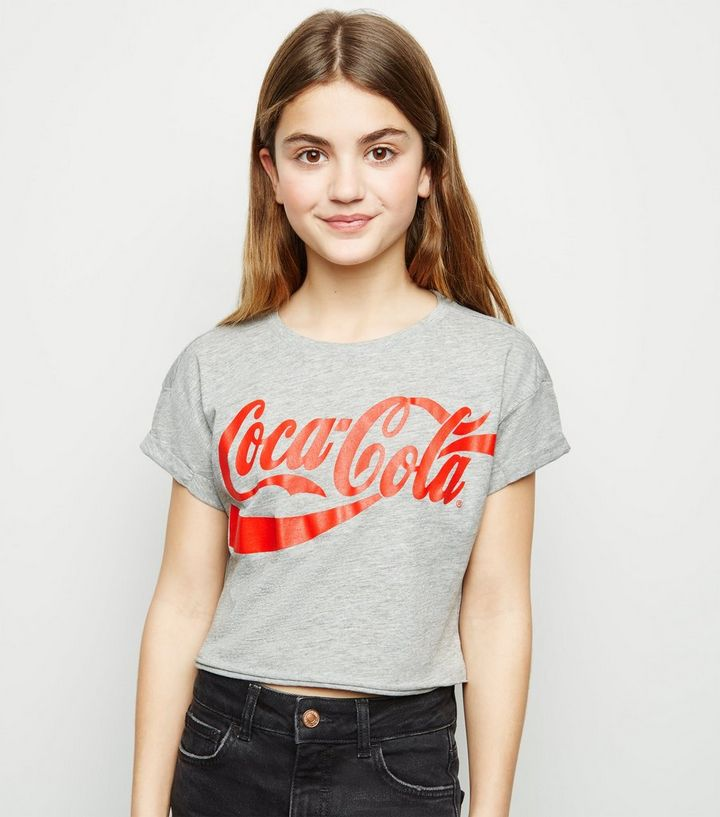 4bb62ccbd Girls Grey Coca Cola Logo T-Shirt | New Look