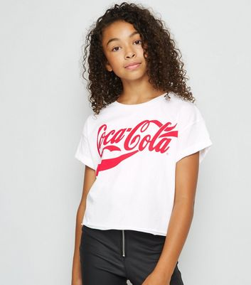 Girls White Coca Cola T-Shirt