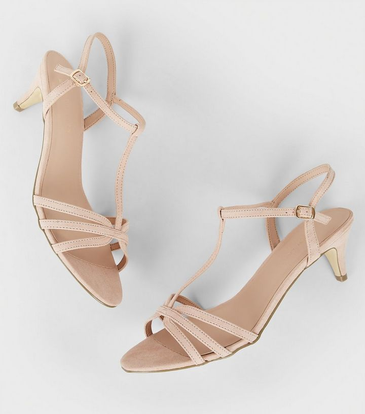 323ab797e11 Wide Fit Nude Comfort Suedette Strappy Heels Add to Saved Items Remove from  Saved Items