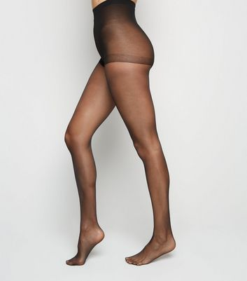 Black Glossy Sheer 15 Denier Tights
