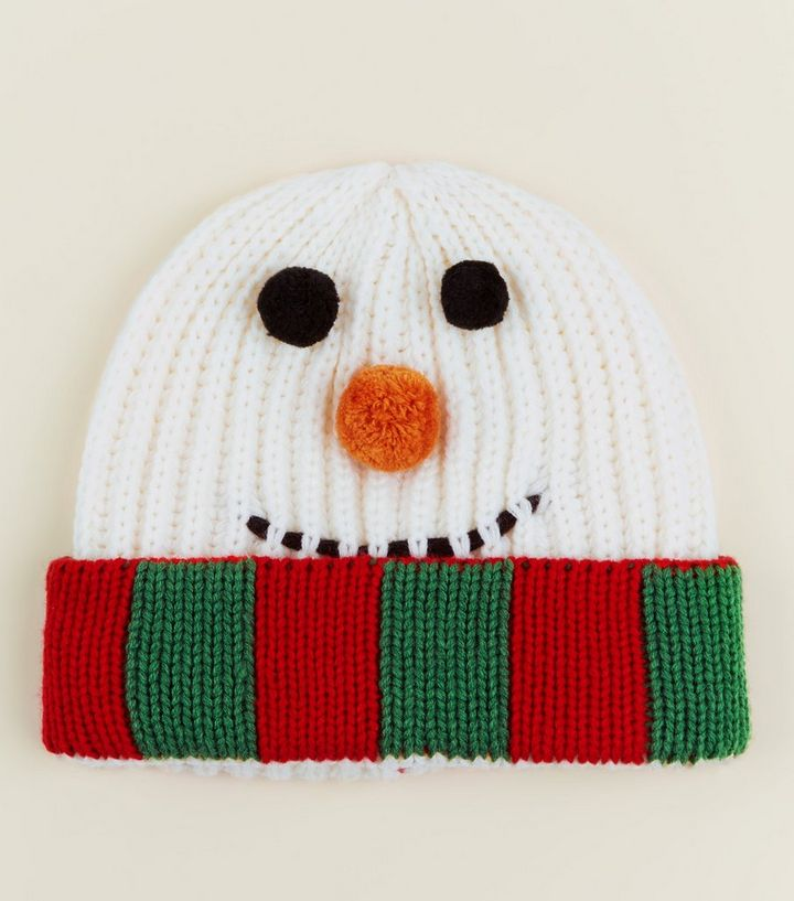 3b8ea978b5f63 Multicoloured Christmas Snowman Beanie Hat