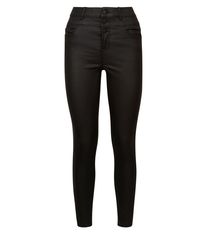 4ceccdfc7ddd ... Black Coated High Waist Skinny Yazmin Jeans. ×. ×. ×. Shop the look