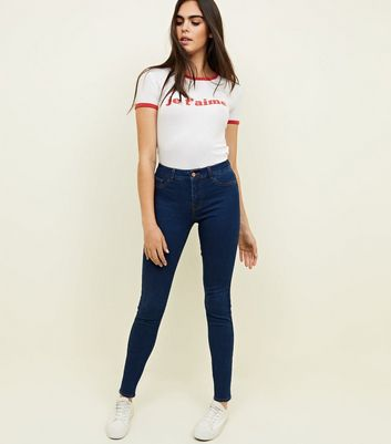 Blue Rinse Wash Skinny Mid Rise Jenna Jeans