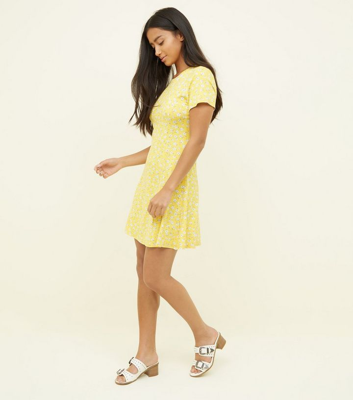 17d86fd430a8 ... Petite Yellow Ditsy Floral Cap Sleeve Swing Dress. ×. ×. ×. Shop the  look