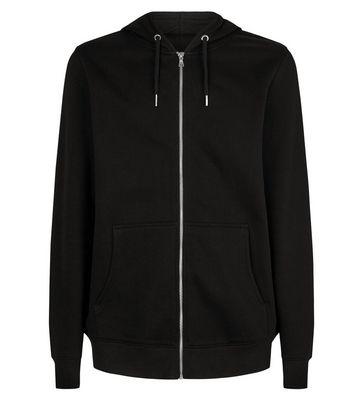 Black Zip Through Hoodie | Topshop
