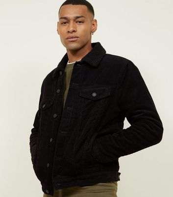 Black Borg Lined Corduroy Jacket