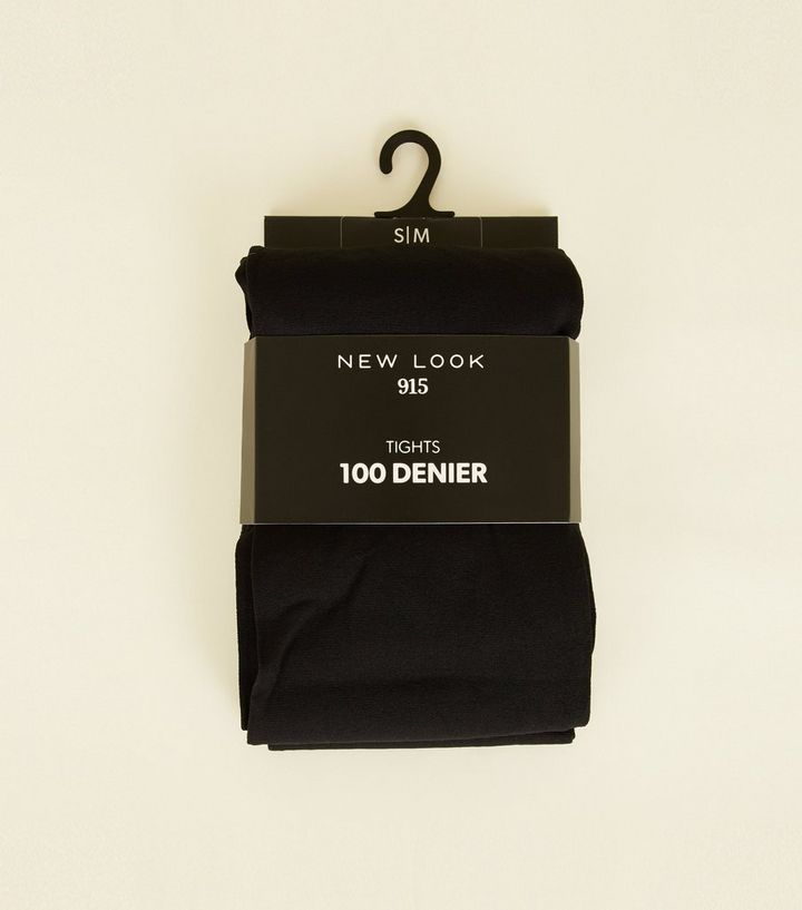 0fefdeb5765 Girls 2 Pack Black 100 Denier Tights