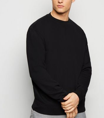 Black Dropped Shoulder Sweatshirt