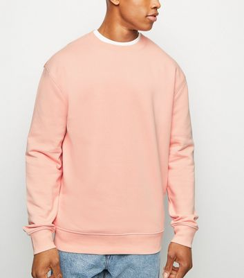 Pink Dropped Shoulder Sweatshirt