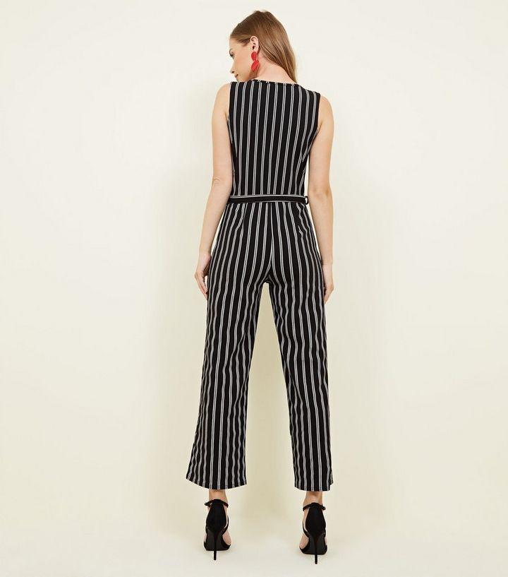 ac0742a5c2d ... Cameo Rose Black Stripe Wrap Jumpsuit. ×. ×. ×. Shop the look