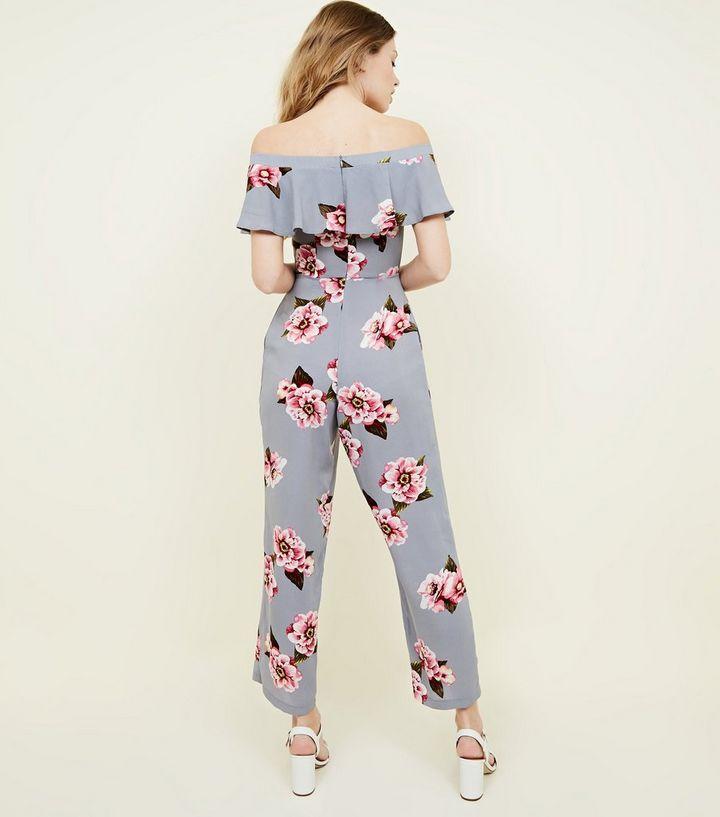 fca2f015dfe8 ... Cameo Rose Light Grey Floral Bardot Neck Jumpsuit. ×. ×. ×. Shop the  look