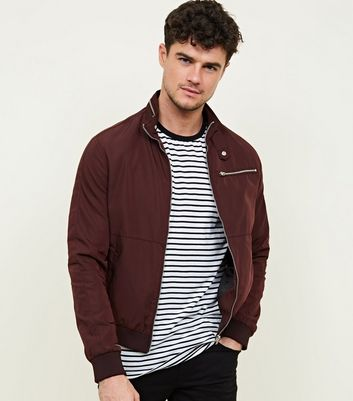 Burgundy Racer Neck Jacket