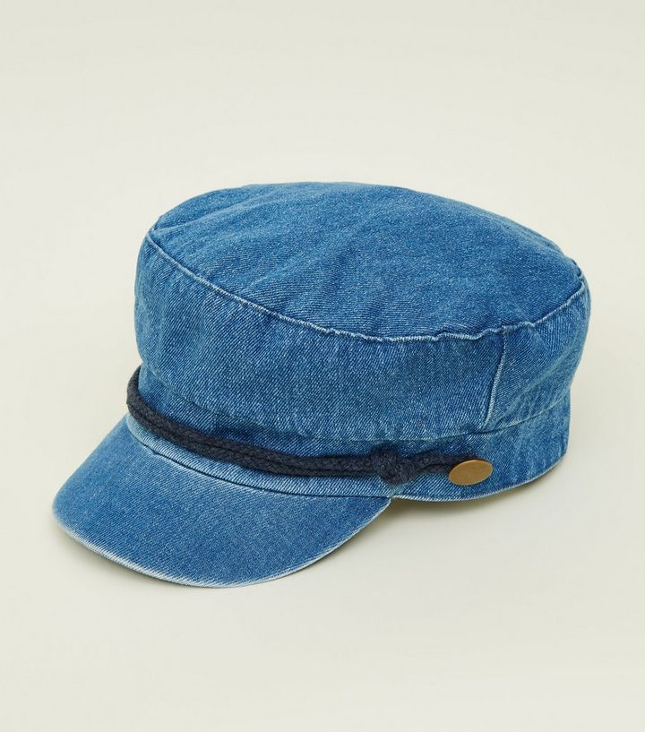 536c528c5 Pale Blue Denim Military Baker Boy Hat Add to Saved Items Remove from Saved  Items