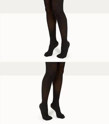 Maternity 2 Pack Black 50 Denier Tights