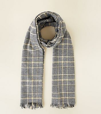 Black Prince of Wales Check Blanket Scarf