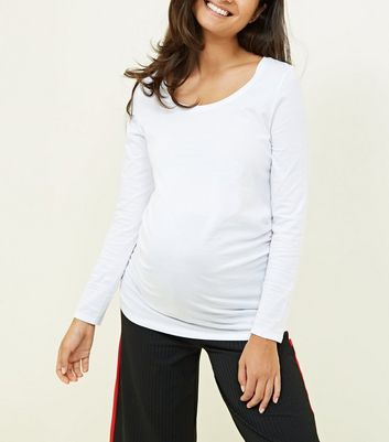 Maternity White Long Sleeve Top