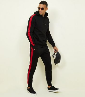 Black Side Stripe Hoodie and Jogger Set