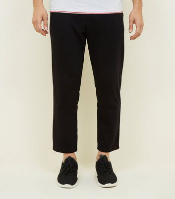 Black Cropped Joggers