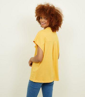 Noisy May Mustard High Neck Short Sleeve T-Shirt New Look