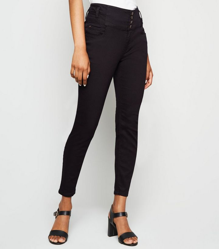 ec0287f6755 ... Petite Black 4 Button Skinny Jeans. ×. ×. ×. Shop the look