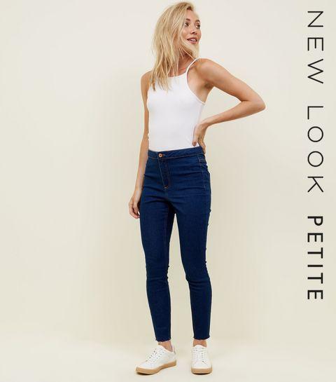 20fa5008f5414 ... Petite Blue Rinse Wash High Waist Super Skinny Jeans ...