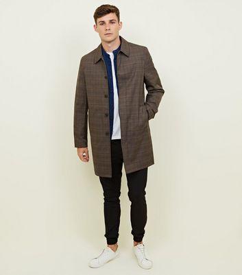 shop for Men's Light Brown Check Mac New Look at Shopo