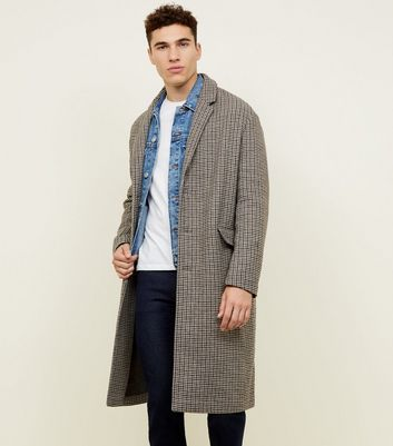 Light Brown Check Overcoat
