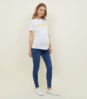 New Look Maternity UNDER or OVER BUMP Jeggings Stretch Denim Jeans All Sizes