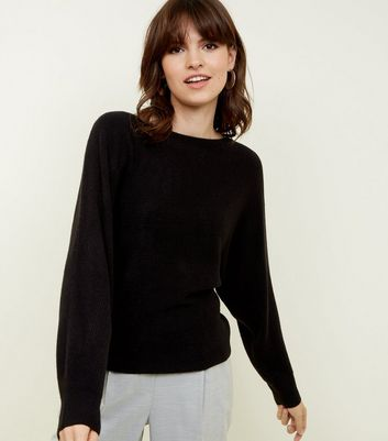 Black Batwing Sleeve Jumper