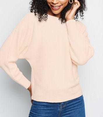 Pale Pink Batwing Sleeve Jumper