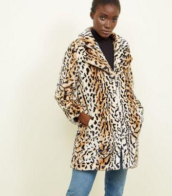 Blue Vanilla Manteau en fausse fourrure marron à imprimé léopard Ajouter à la Wishlist Supprimer de la Wishlist