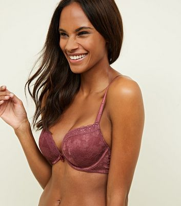 Plum Lace Push-Up Bra