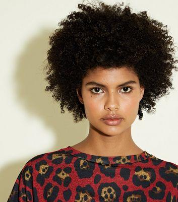 QED Red Leopard Print Tunic Dress New Look