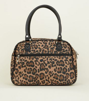 Brown Leopard Print Cabin Bag