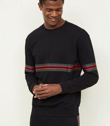Black Tape Stripe Sweatshirt