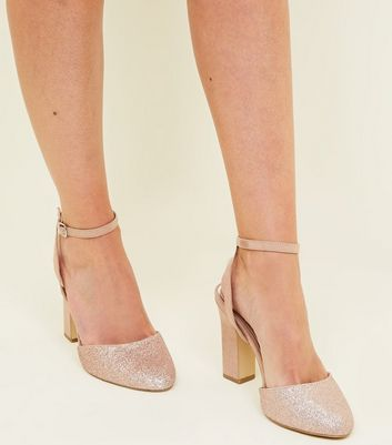 Wide Fit Rose Gold Round Toe Block
