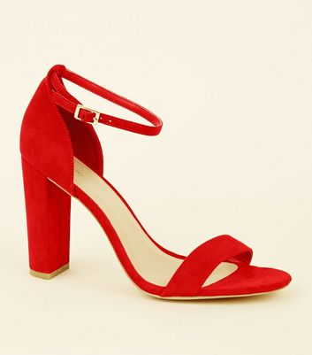 Wide Fit Suedette Finish Block Heels