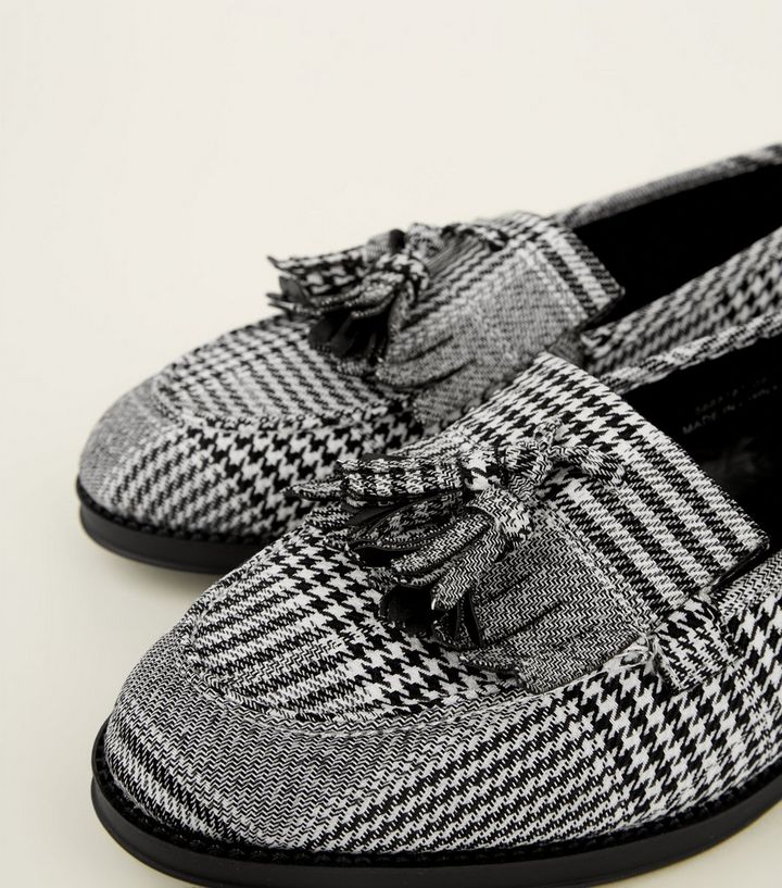 e0c7571d374 ... Black Check Printed Loafers. ×. ×. ×. Shop the look