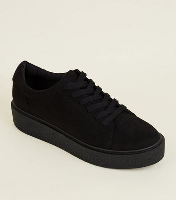 Black Chunky Creeper Trainers