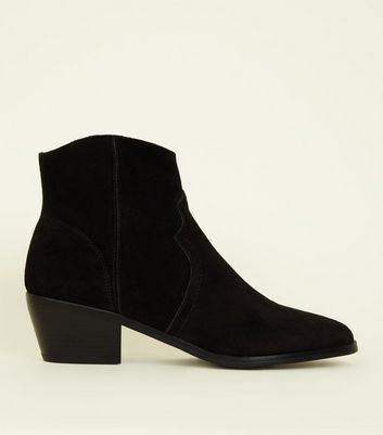 Black Suede Western Boots