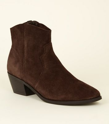 Rust Suede Western Boots