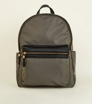 Khaki Domed Backpack