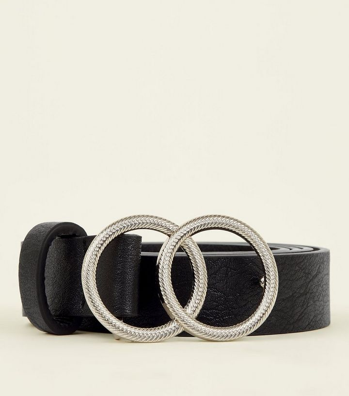 d126a6d5e92 ... Black Double Circle Embossed Buckle Belt. ×. ×. ×. Shop the look