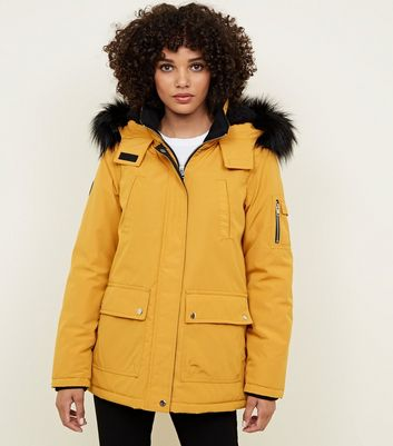 Mustard Mountain Badge Parka