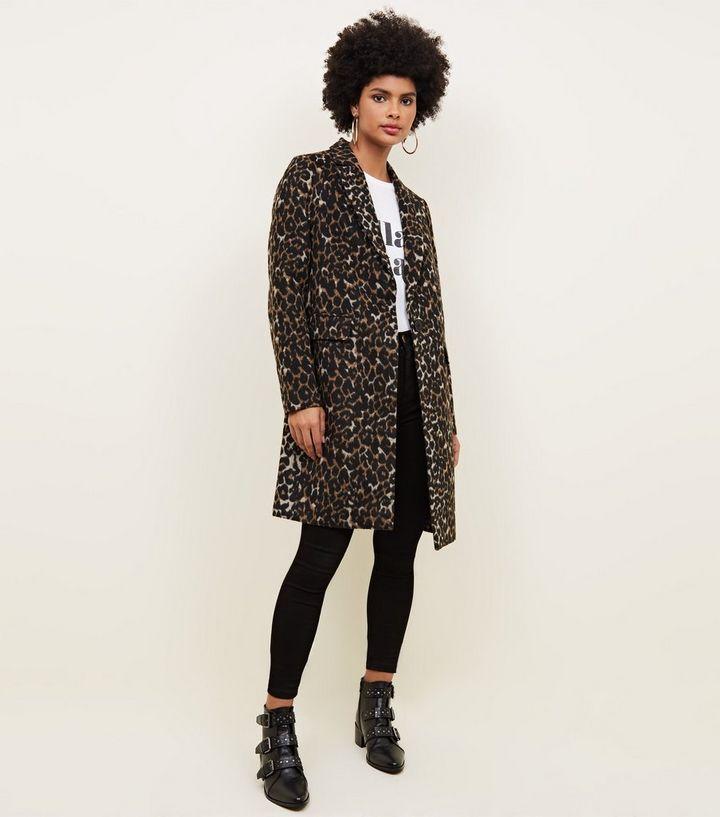 official photos d4a01 1aa21 Brauner, langer Mantel mit Leopardenmuster Für später speichern Von  gespeicherten Artikeln entfernen