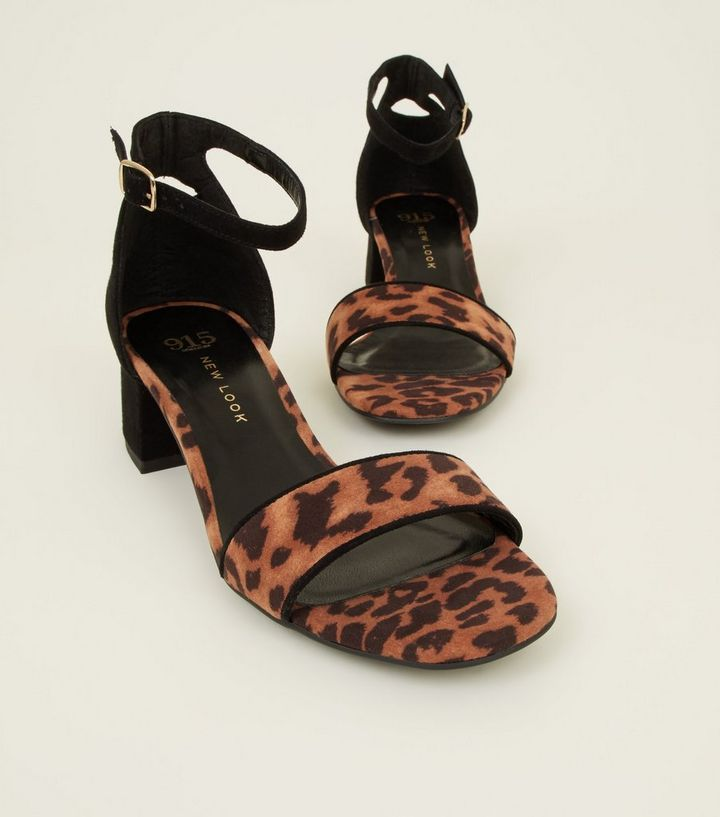 23aaed6f7c9b ... Girls Stone Leopard Print Contrast Block Heel Sandals. ×. ×. ×. Shop  the look