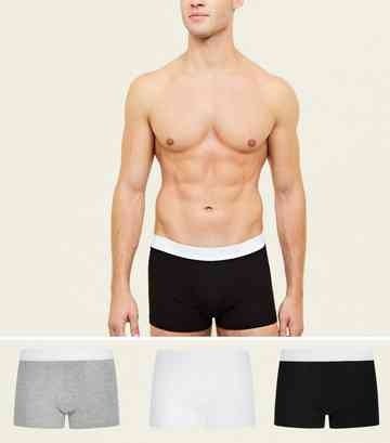 3 Pack Multi Colour Cotton Stretch Trunks