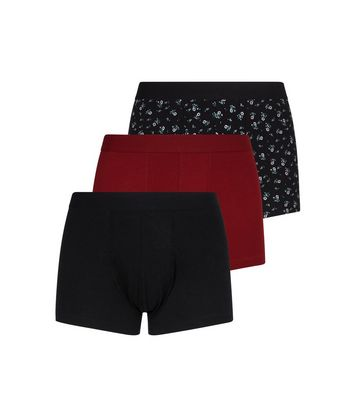 3 Pack Black, Red and Ditsy Floral Trunks
