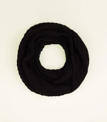 Black Chevron Loop Knit Snood