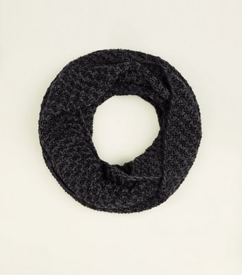 Light Grey Chevron Loop Knit Snood
